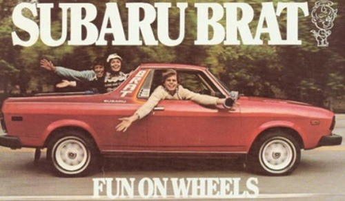 Vintage Subaru Brat Ad