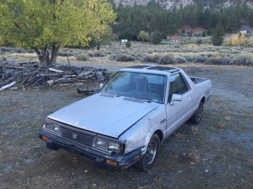 1984 subaru brat v4 auto for sale in gardnerville nevada. Black Bedroom Furniture Sets. Home Design Ideas